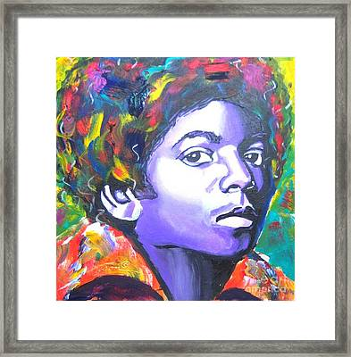 MJ Framed Print by Jonathan Tyson
