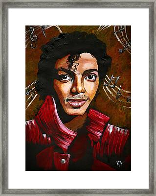 MJ Framed Print by RiA RiA