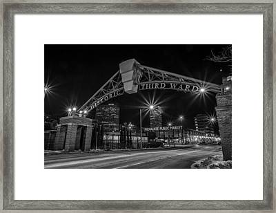 Mke Third Ward Framed Print by CJ Schmit