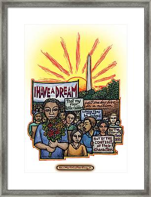 I Have A Dream Framed Print by Ricardo Levins Morales