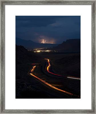 Moab Storm Framed Print by Adam Romanowicz