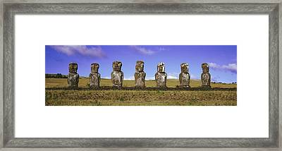 Moai Easter Island Chile Framed Print by Panoramic Images