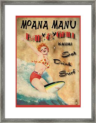 Moana Manu Framed Print by Cinema Photography