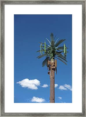 Mobile Phone Communications Tower Framed Print by Jim West