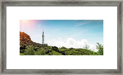 Mobile Phone Mast Framed Print by Dan Dunkley