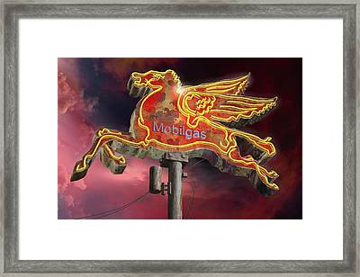 Mobilgas Framed Print by Larry  Page