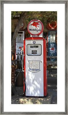 Mobilgas - Tokheim Gas Pump Framed Print by Mike McGlothlen