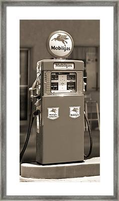 Mobilgas - Wayne Double Gas Pump 2 Framed Print by Mike McGlothlen