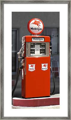 Mobilgas - Wayne Double Gas Pump Framed Print by Mike McGlothlen