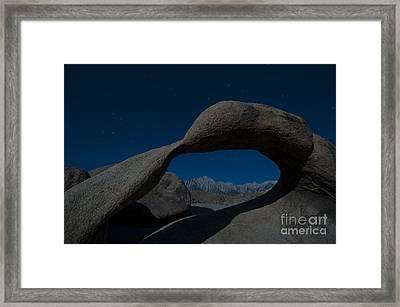 Mobius Arch, Alabama Hills Framed Print by John Shaw