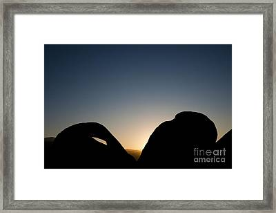 Mobius Arch At Night, Alabama Hills Framed Print by John Shaw