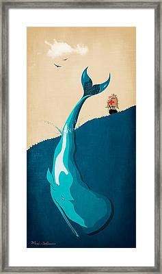 Moby Dick 2 Framed Print by Mark Ashkenazi