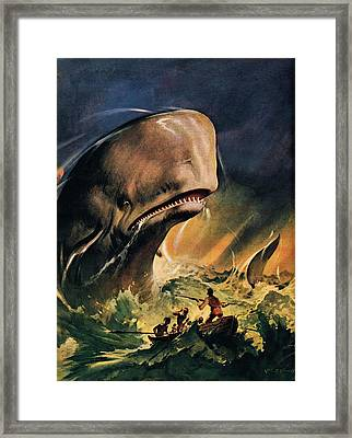 Moby Dick Framed Print by James Edwin McConnell