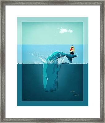 Moby Dick Framed Print by Mark Ashkenazi