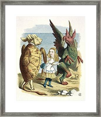 Mock Turtle And Gryphon, Artwork Framed Print by British Library