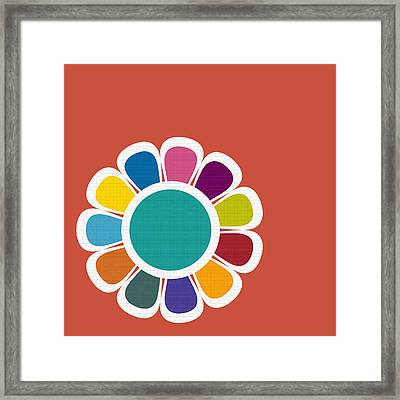 Mod Flower No.2 Framed Print by Bonnie Bruno