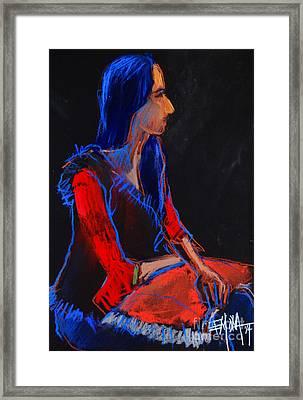 Model #2 - Figure Series Framed Print by Mona Edulesco