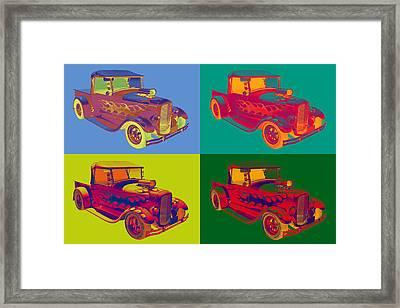 Model A Ford Pickup Hotrod Pop Art. Framed Print by Keith Webber Jr