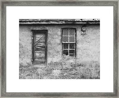 Model Ghost Town Framed Print by Anna Villarreal Garbis