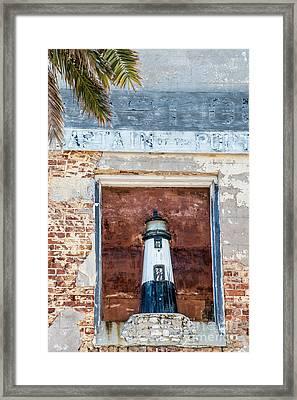 Model Key West Lighthouse In Old Brickwork  Framed Print by Ian Monk
