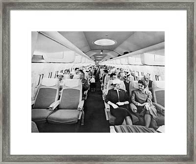Model Of Boeing 707 Cabin Framed Print by Underwood Archives