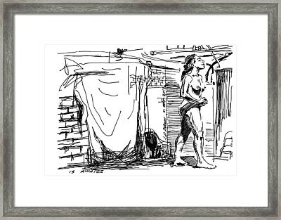 Model On Stage March 2012 Framed Print by John Brown