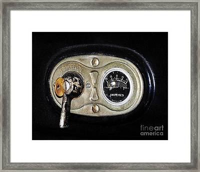 Model T Control Panel Framed Print by Al Powell Photography USA