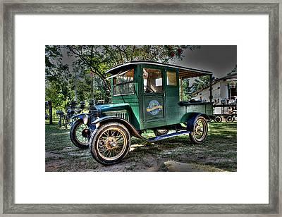 Model T Truck In Bon Secour Al Framed Print by Lynn Jordan