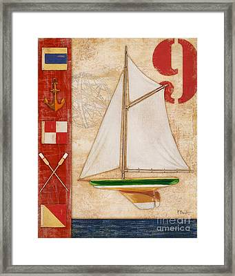 Model Yacht Collage I Framed Print by Paul Brent