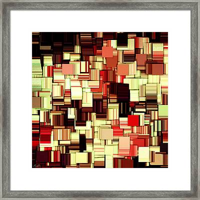 Modern Abstract Art Xvii Framed Print by Lourry Legarde