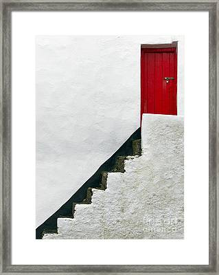 Modern Abstract Door Framed Print by Svetlana Sewell