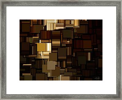 Modern Abstract Iv Framed Print by Lourry Legarde