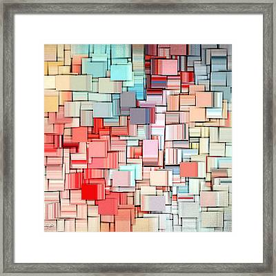 Modern Abstract X Framed Print by Lourry Legarde