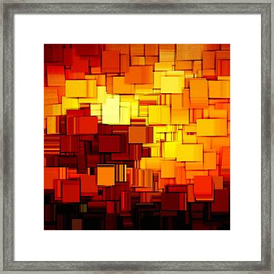 Modern Abstract Xi Framed Print by Lourry Legarde
