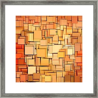 Modern Abstract Xvi Framed Print by Lourry Legarde