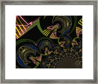 Modern Art Deco Framed Print by Absinthe Art By Michelle LeAnn Scott