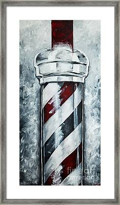 Modern Barber Pole Framed Print by Chuck Styles