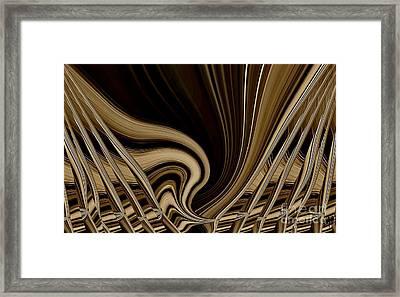 Modern Basket Weaving Framed Print by Marsha Heiken