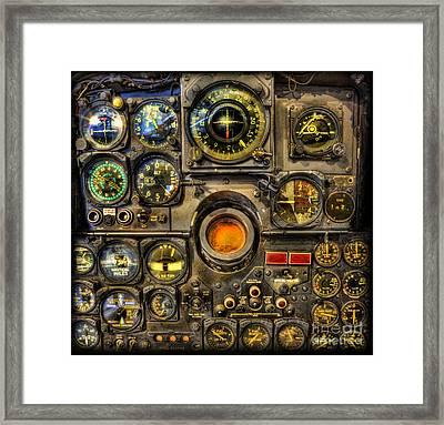 Modern Electronic Cockpit - Flight Instruments Framed Print by Lee Dos Santos