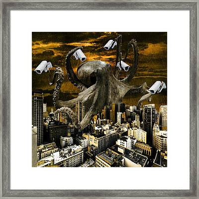 Digital Manipulation Framed Print featuring the digital art Modern Freedom by Marian Voicu
