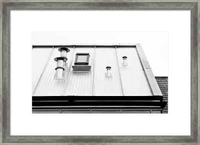 Modern Roof Framed Print by Tom Gowanlock