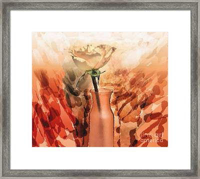 Modern Rose Framed Print by Marsha Heiken