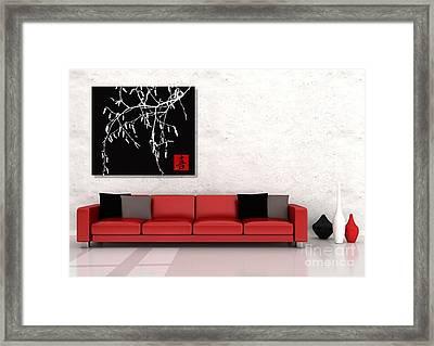 Modern Zen Design Framed Print by Andrea Kollo