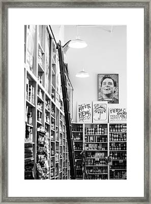 Modica Market - Black And White Framed Print by Shelby  Young
