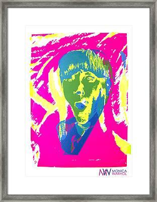 Moe Howard Framed Print by Monica Warhol