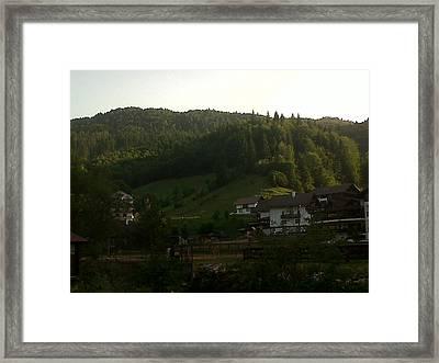 Moeciu Landscape Framed Print by Andreea Alecu