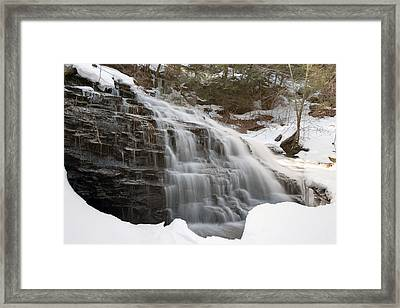 Mohawk Emerging From The Ice Framed Print by Gene Walls