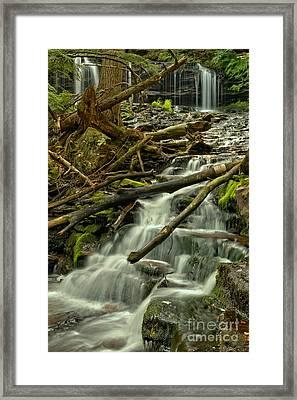 Mohawk Falls Portrait Framed Print by Adam Jewell