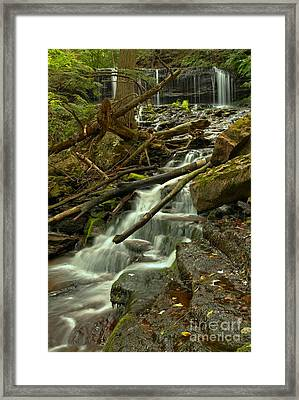 Mohawk Streaming Down Framed Print by Adam Jewell