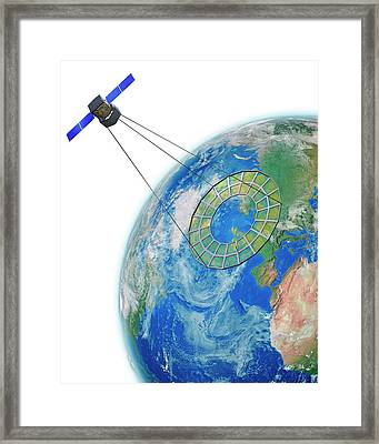 Moire Spy Satellite Framed Print by Claus Lunau